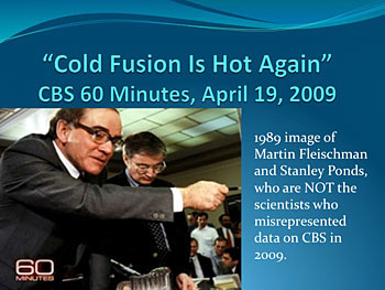 Image from CBS 60 Minutes website story hyping cold fusion.