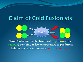 Cold Fusion scientists claims