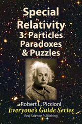 Special Relativity 3:  Particles, Paradoxes & Puzzles